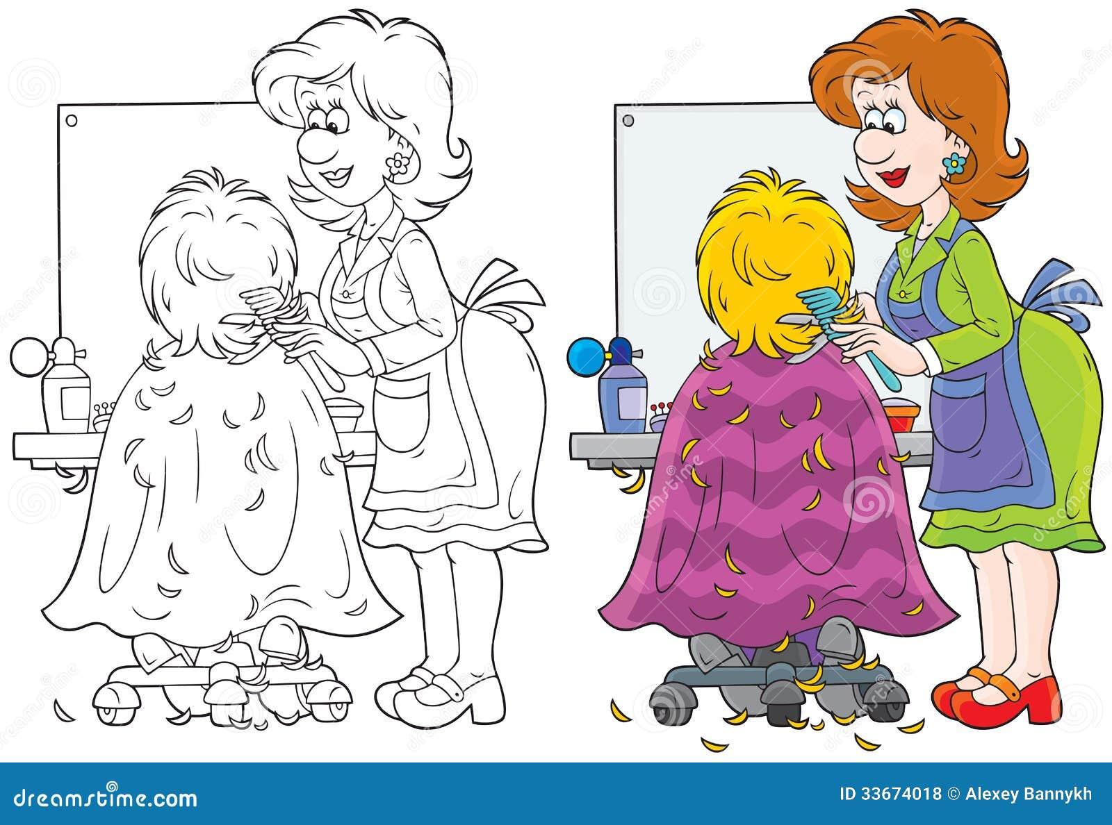 Hairdresser Stock Vector Illustration Of Chair Barber