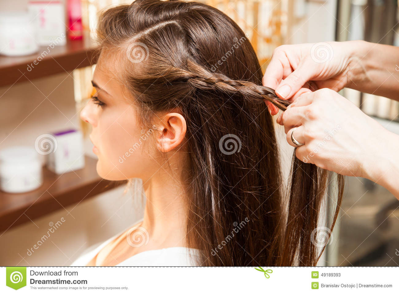 At hairdresser stock photo image 49189393 for Salon younga