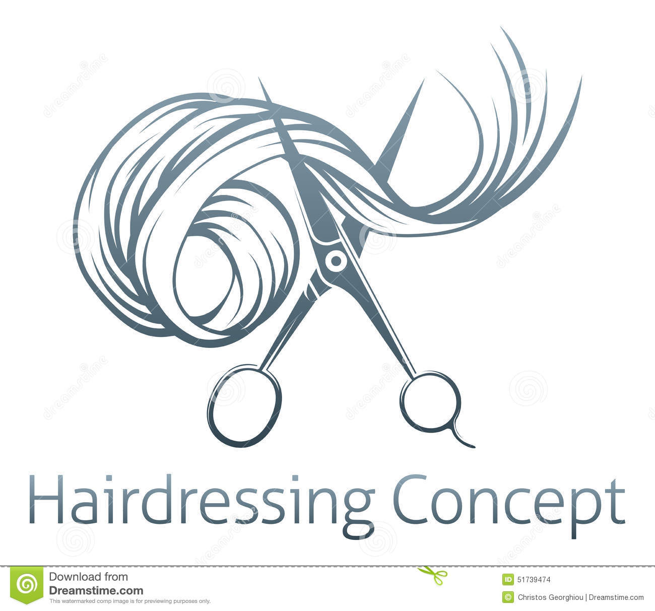 Hairdressers Scissors Concept Stock Vector Image 51739474