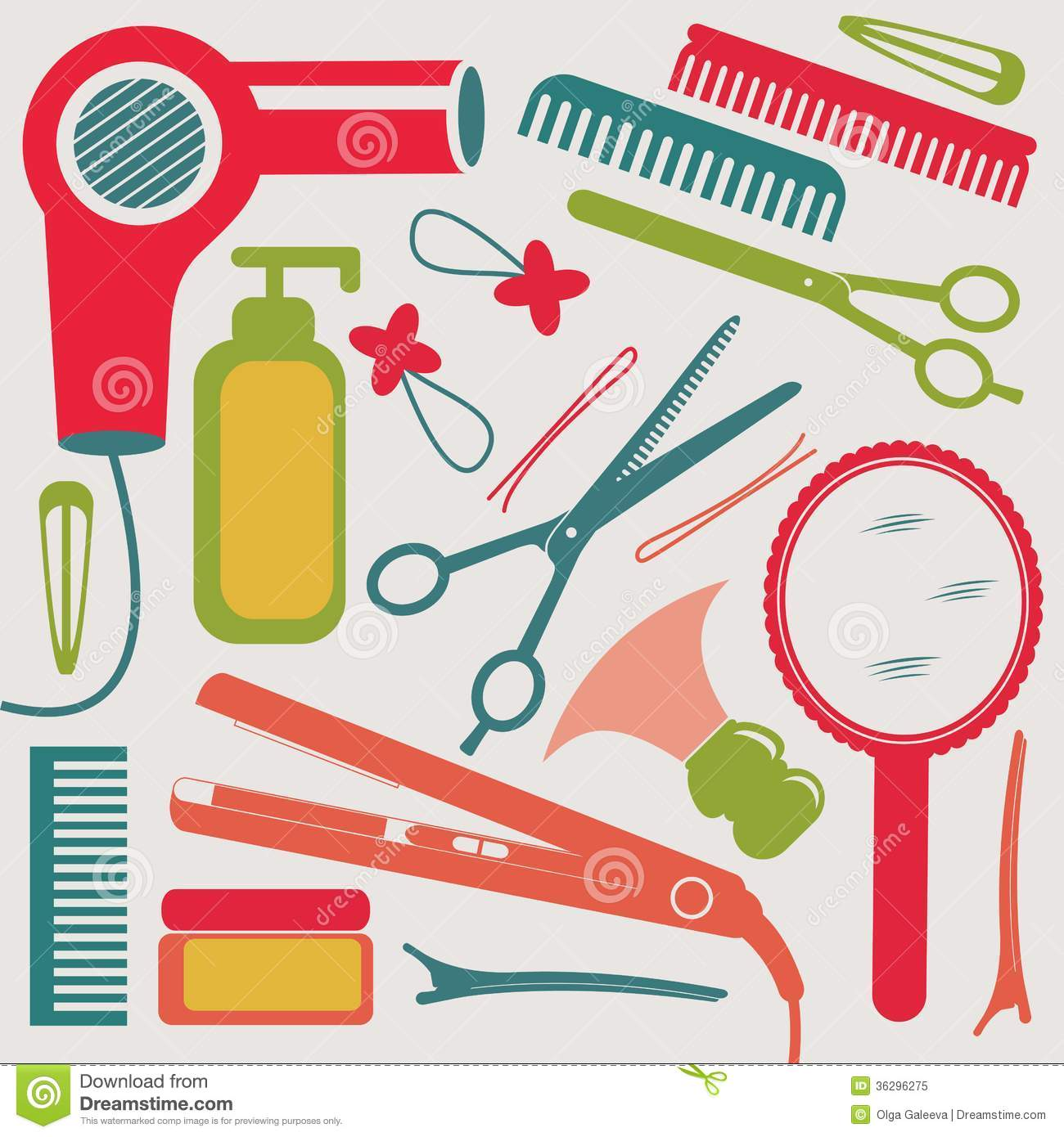 Hairdressing Collection Royalty Free Stock Photo Image