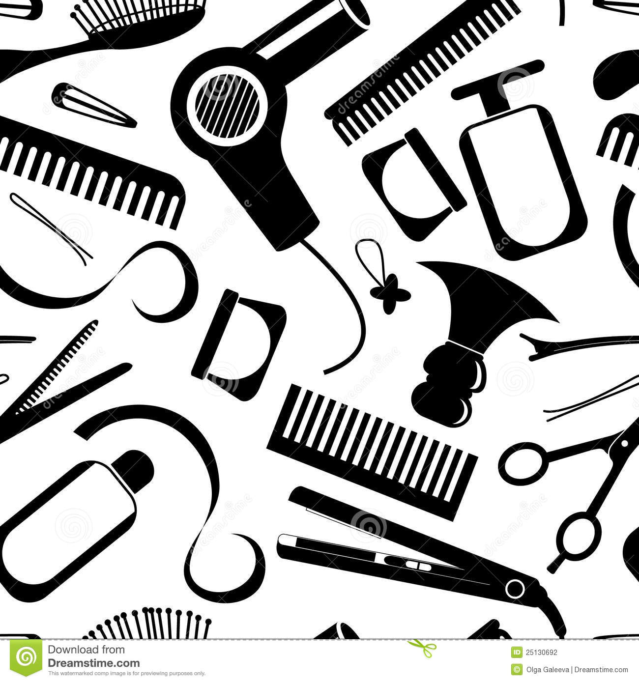 Image Gallery Of Hair Salon Supplies Clipart Hairdressing Equipment Pattern 25130692