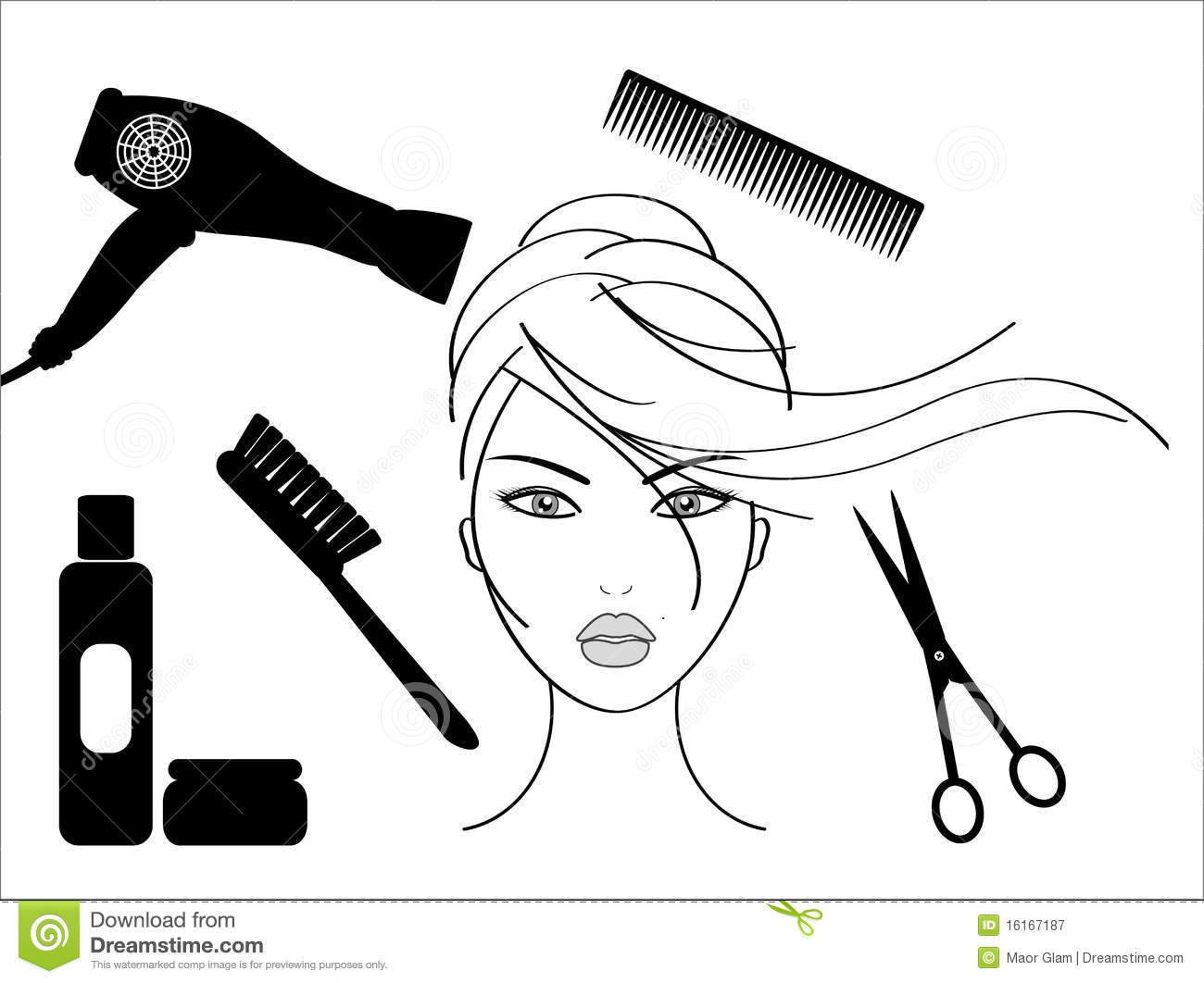 Hairdressing salon stock vector illustration of isolated 16167187 - Dessin coiffeuse ...