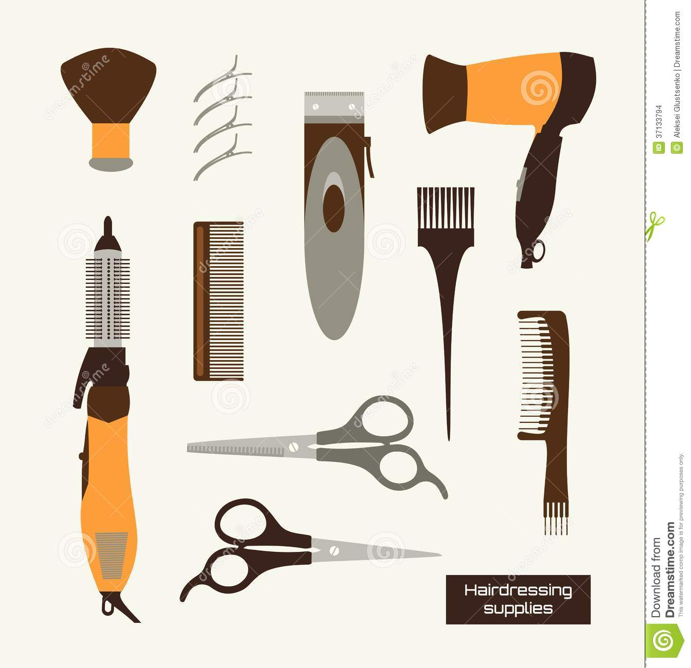 Hairdressing Supplies Vector Illustracion Stock Vector
