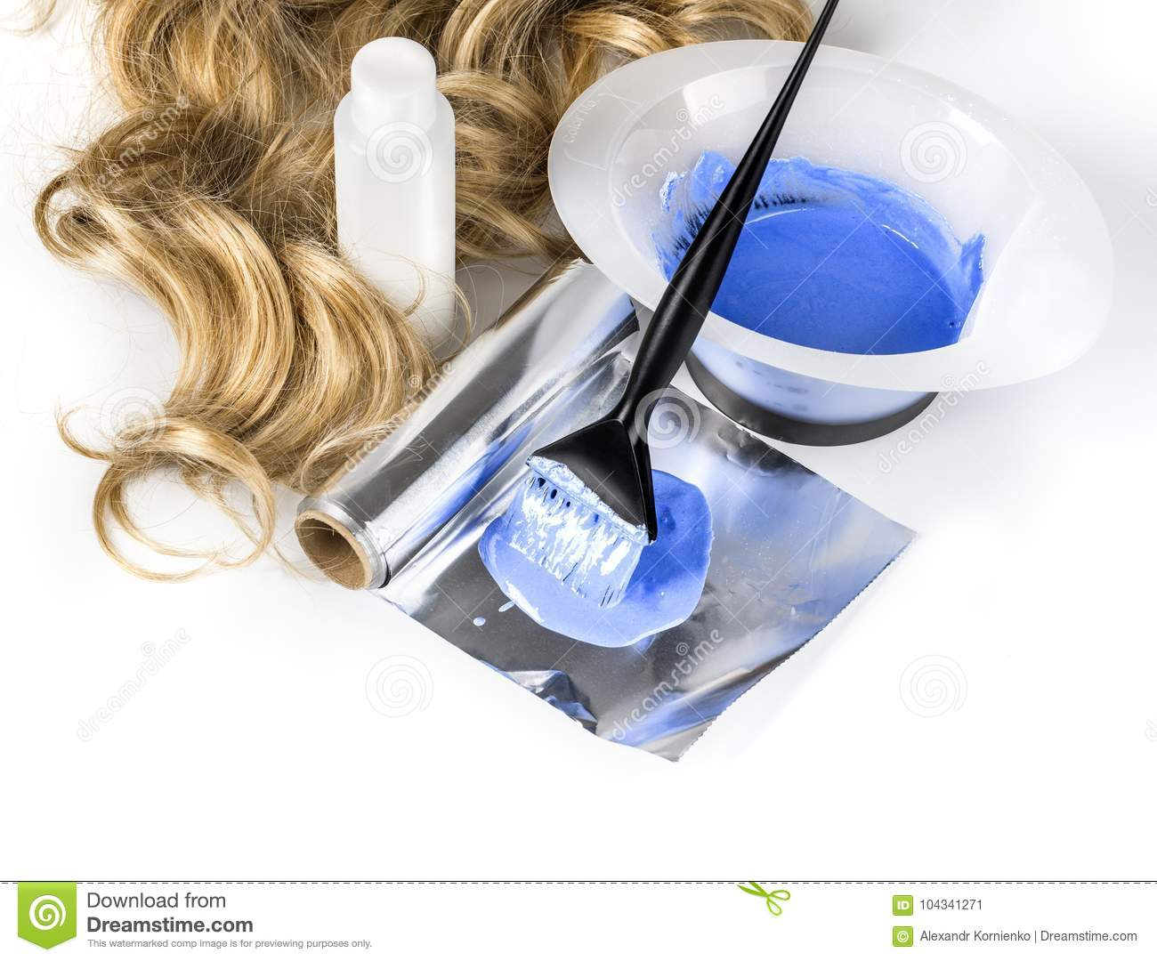 Hairdressing Tools On White Stock Image - Image of stylist, color ...