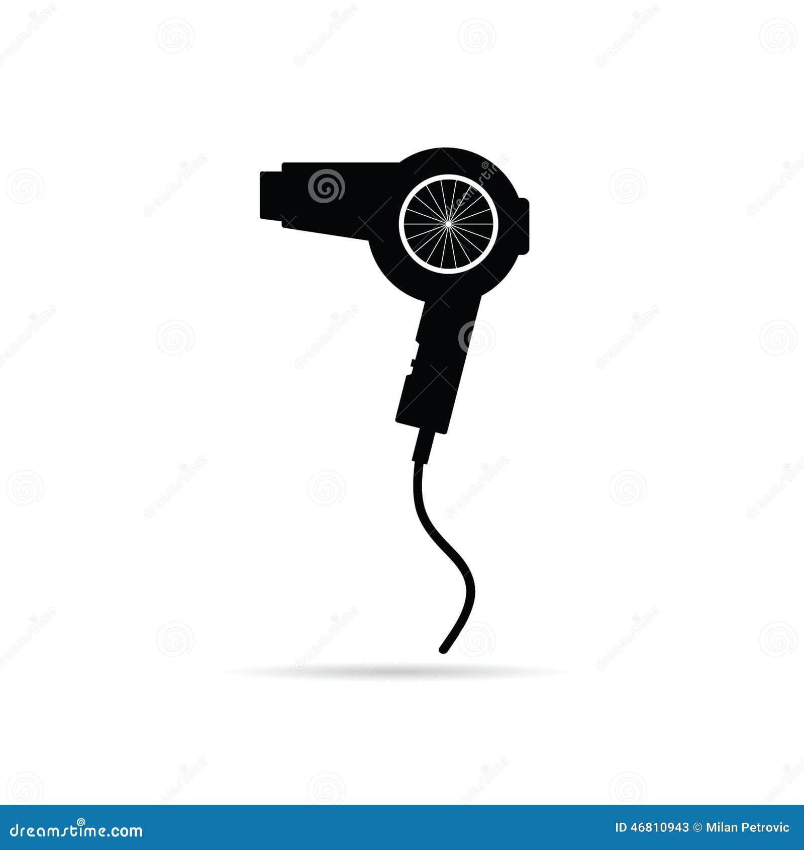Animated Hair Dryer ~ Hairdryer black art vector illustration stock