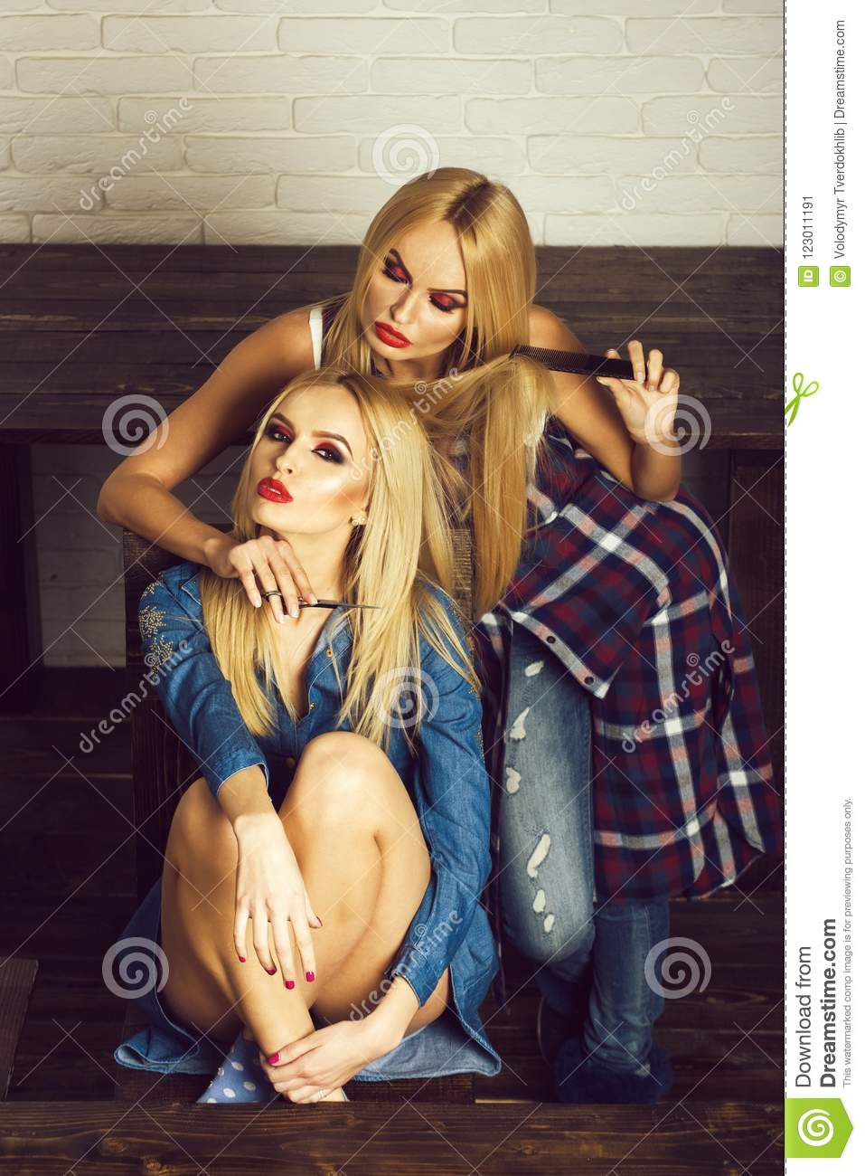 Teens two getting their blonde