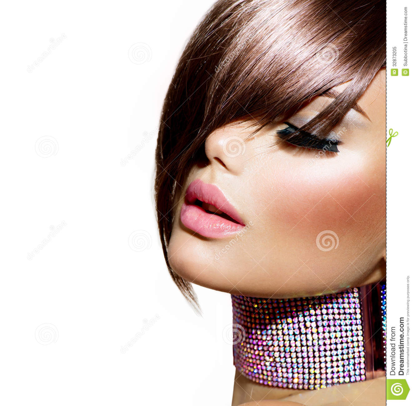 Girl Hairstyle Download Video: Hairstyle. Beauty Model Girl Stock Image