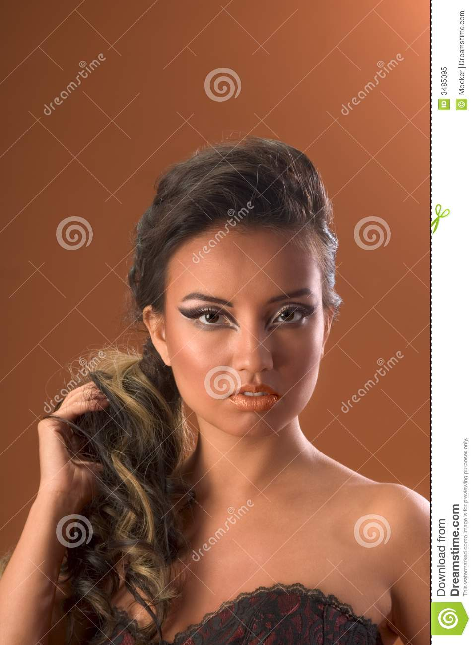Hairstyle Hair Extension Asian Stock Image Image Of Brilliant