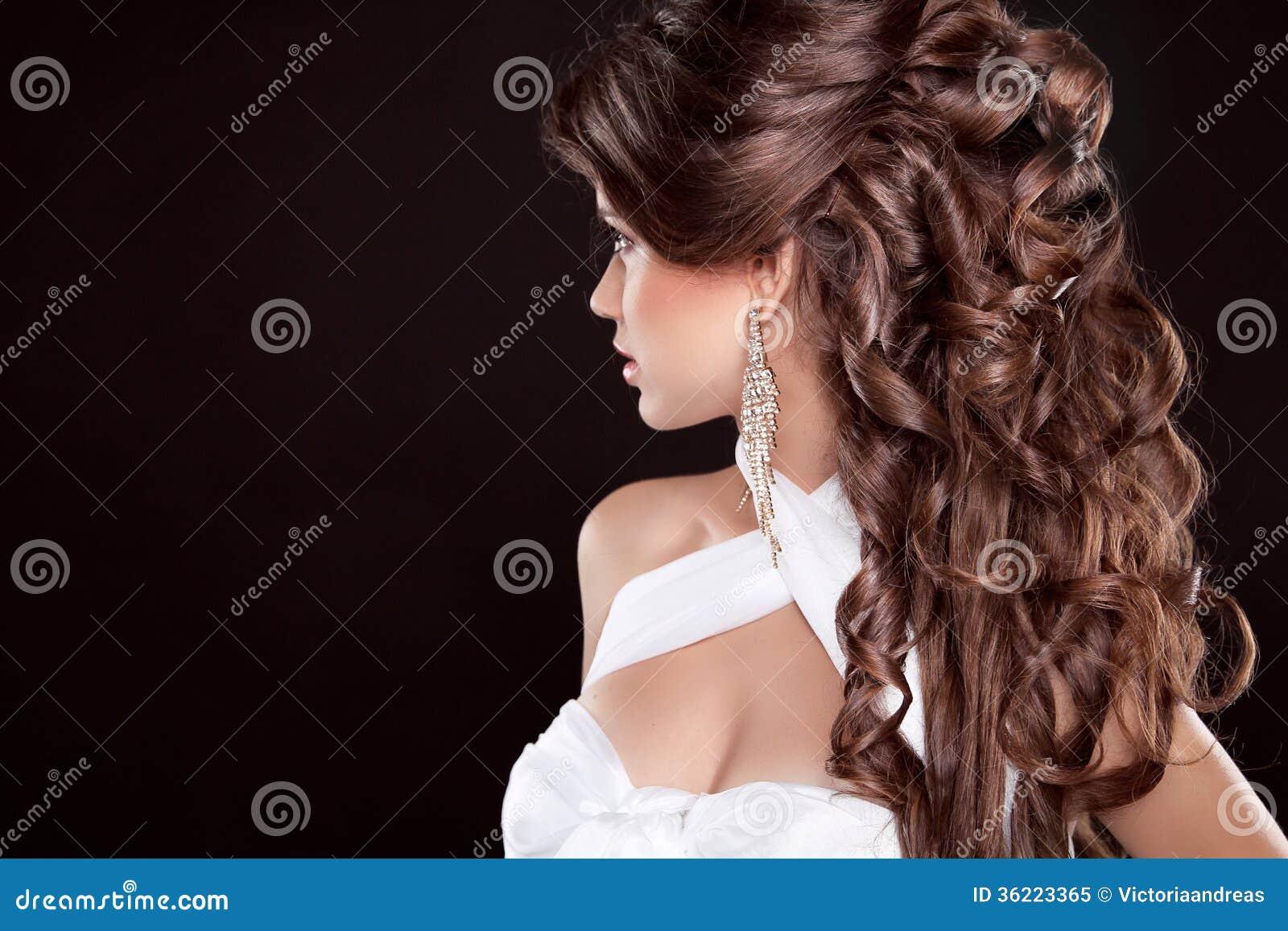 Outstanding Hairstyle Long Hair Glamour Fashion Woman Portrait Of Beautifu Short Hairstyles Gunalazisus