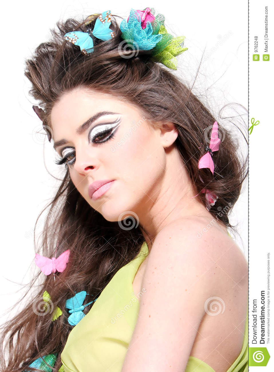 Hairstyle and makeup stock photo. Image of glamour, makeup - 9762248