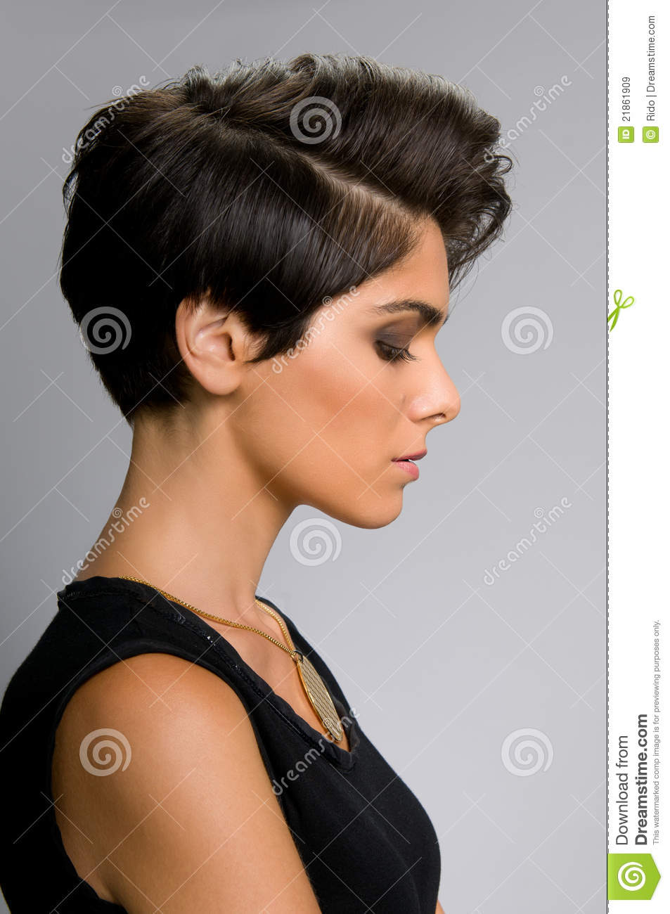 Hairstyle Profile Stock Image Image Of Looking Beautiful 21861909