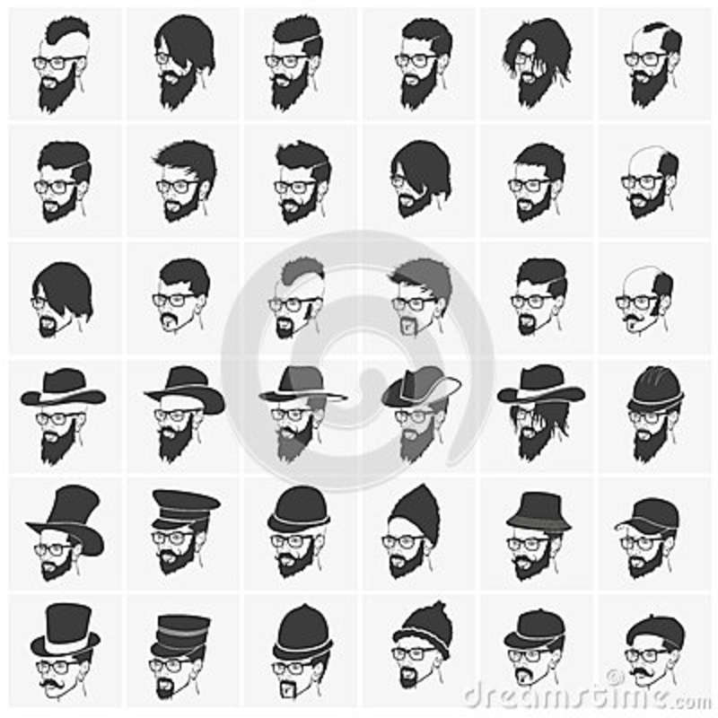 Hairstyles with a beard and mustache wearing