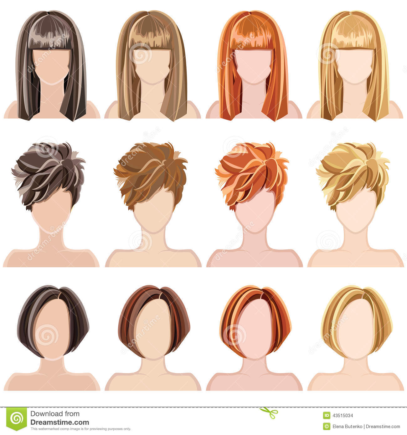 Vector Hairstyles: Hairstyles Stock Vector. Illustration Of Hairstyles