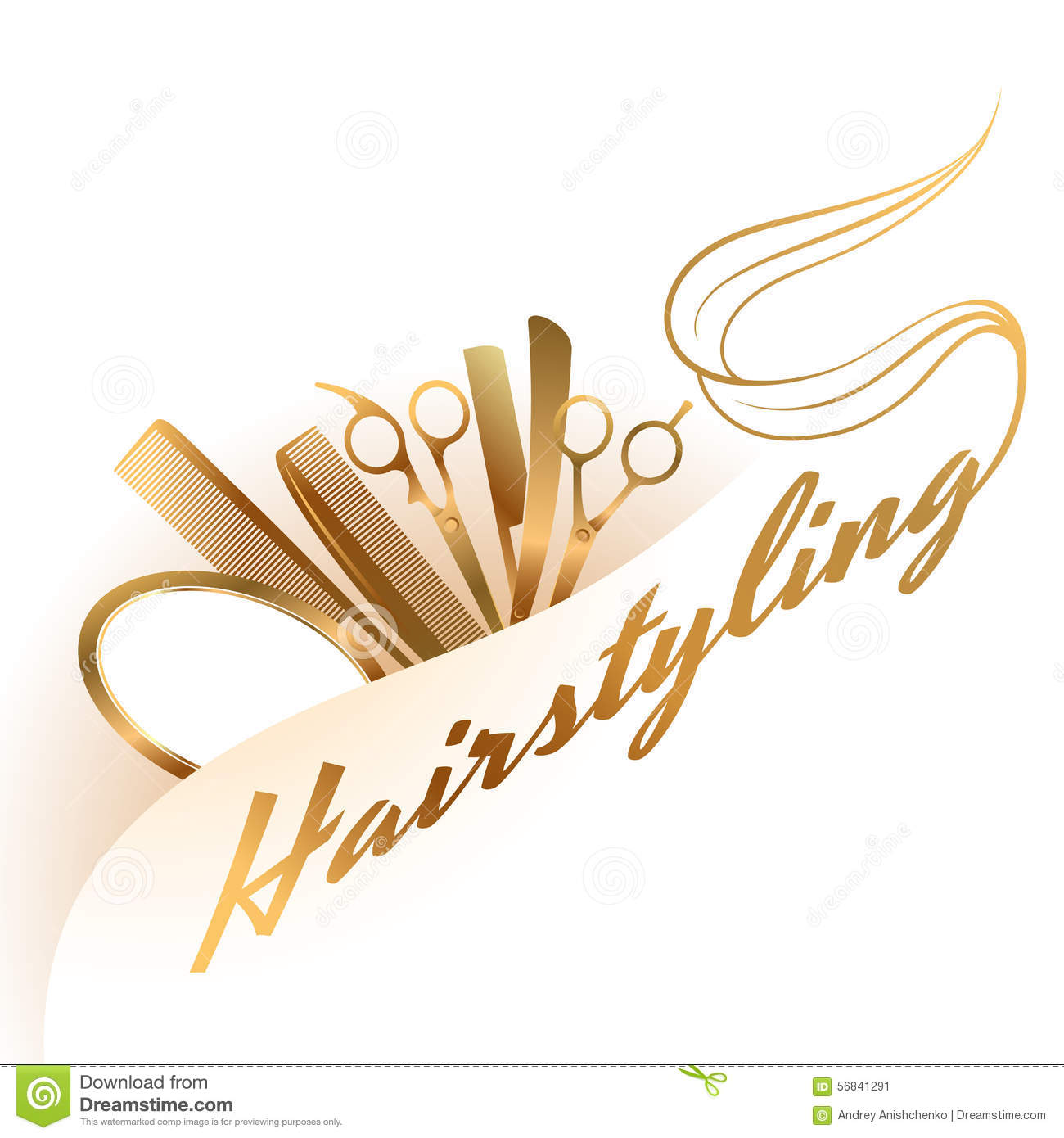 Hairstyling logo stock vector. Illustration of needle ...