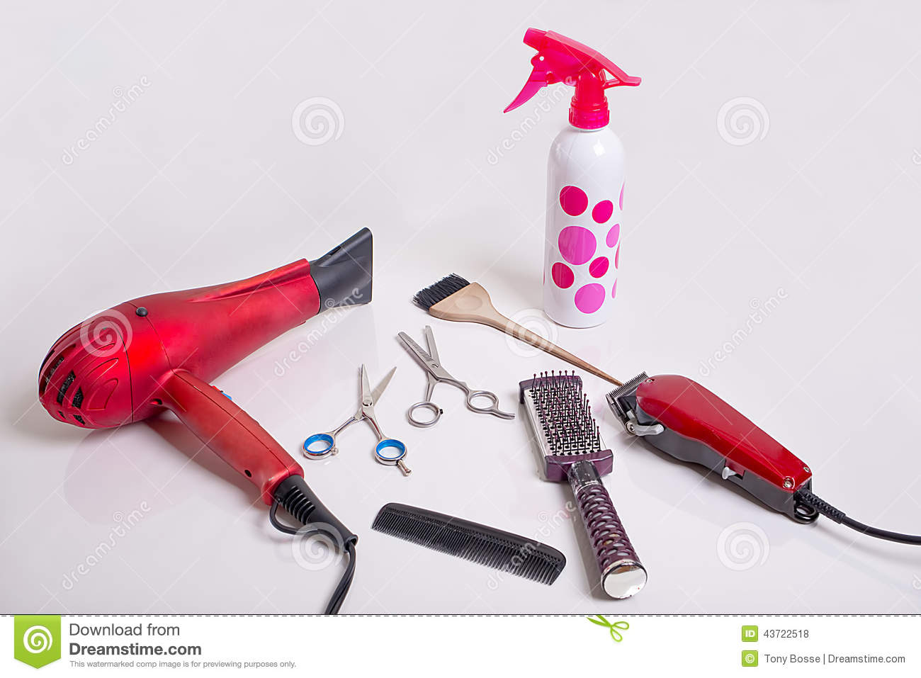 Download Hairstyling Tools stock photo. Image of fashion, hygiene - 43722518