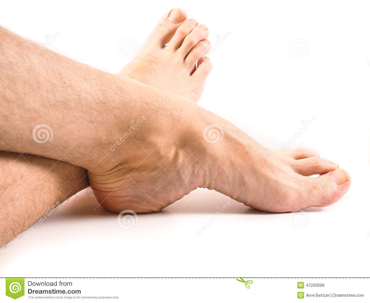 hairy legs pic hairy legs and feet of male person resting one white stock 3428