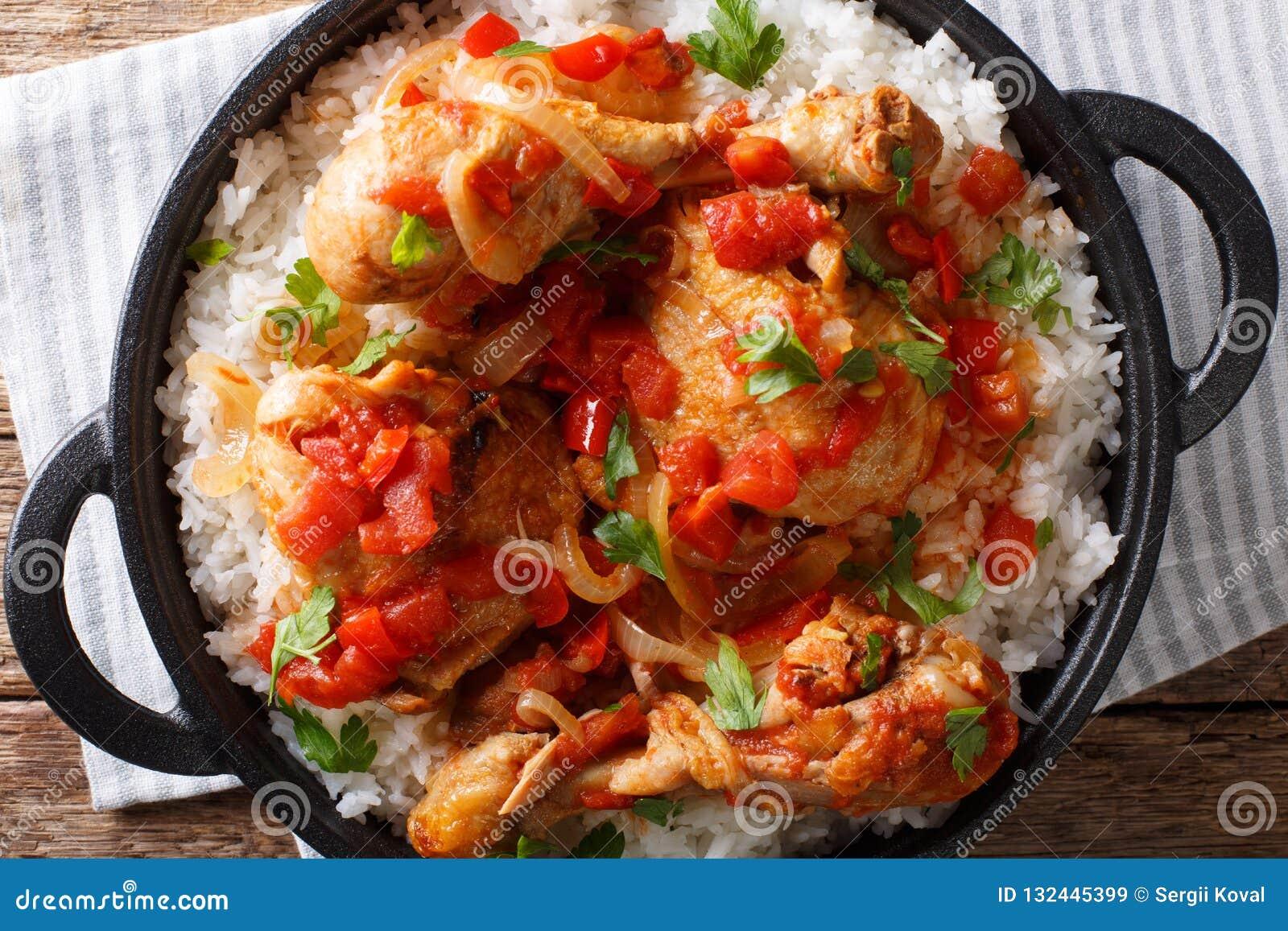 Haitanski Kurczaka Przepis Jest Jeden Garnkiem Kurczak Pomidory