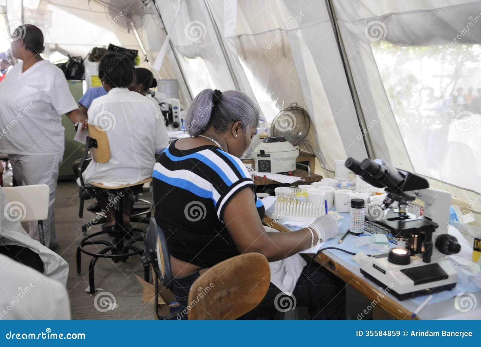 Haitański szpital.