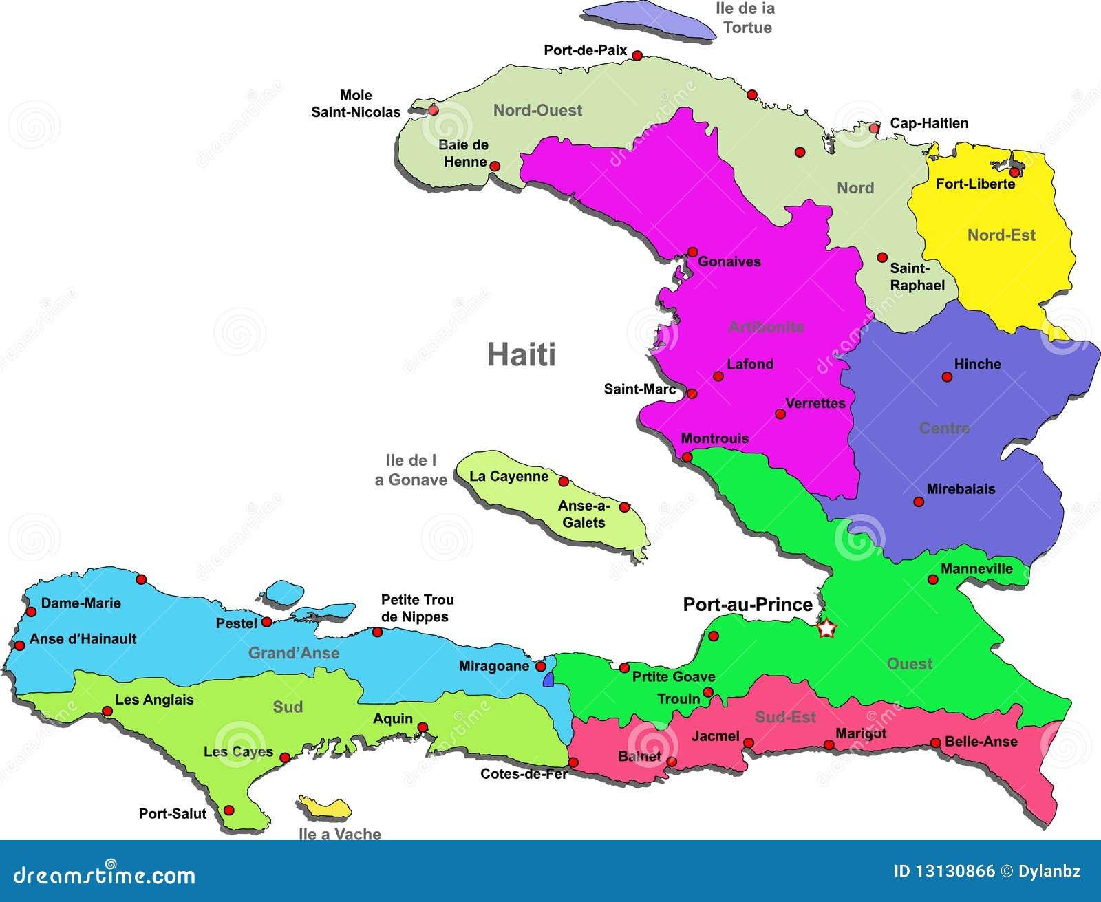 Haiti Map Royalty Free Stock Image Image - Haiti regions map