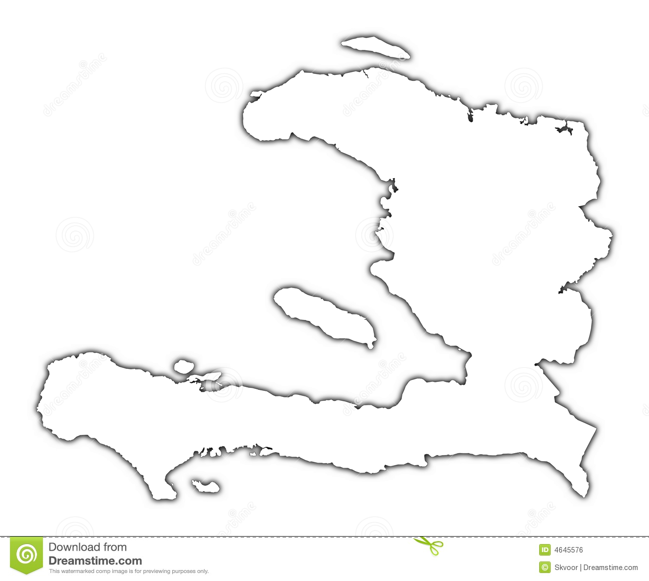 Haiti Map Outline Haiti outline map stock illustration. Illustration of detailed