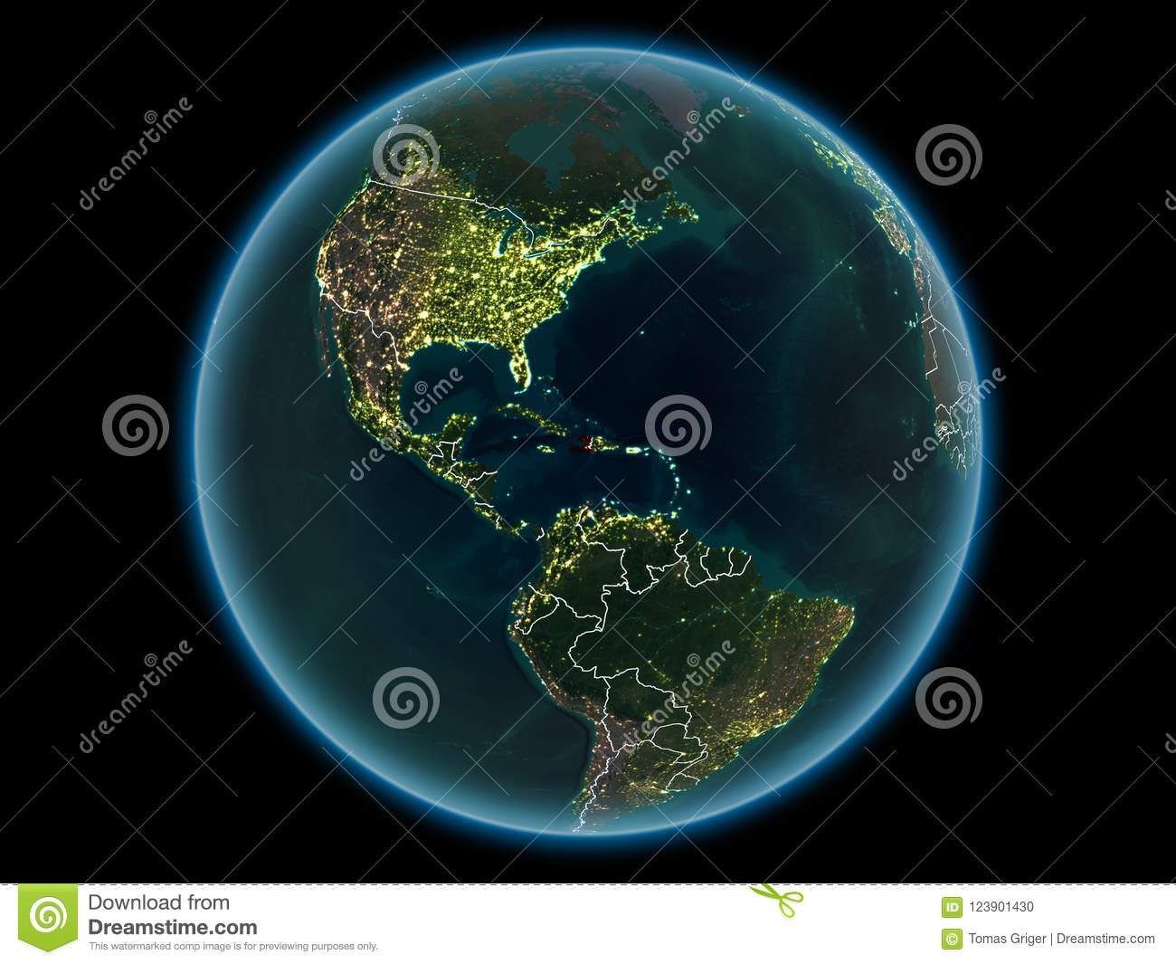Haiti on planet earth from space at night stock photo image of download haiti on planet earth from space at night stock photo image of international gumiabroncs Image collections