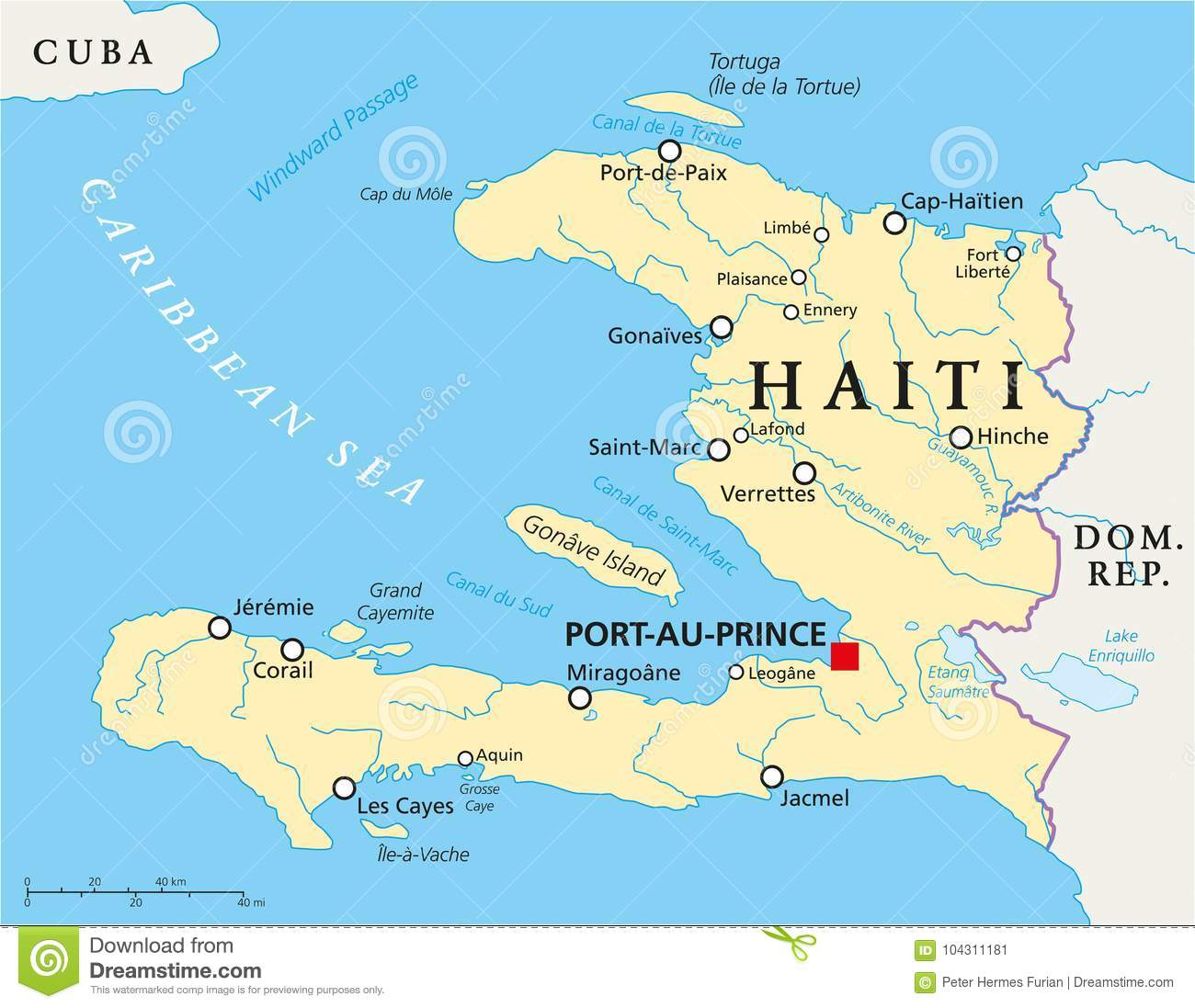 Haiti Political Map stock vector. Illustration of geography - 104311181