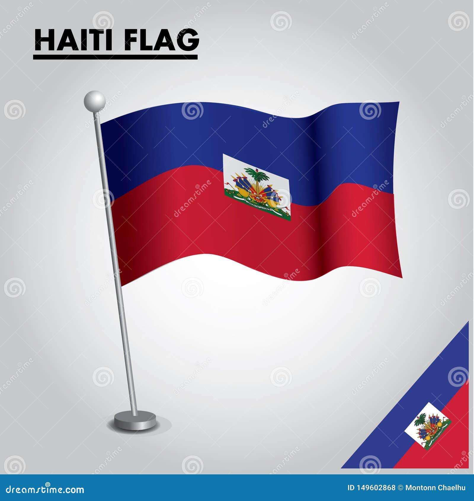 HAITI zaznacza flagę państowową HAITI na słupie