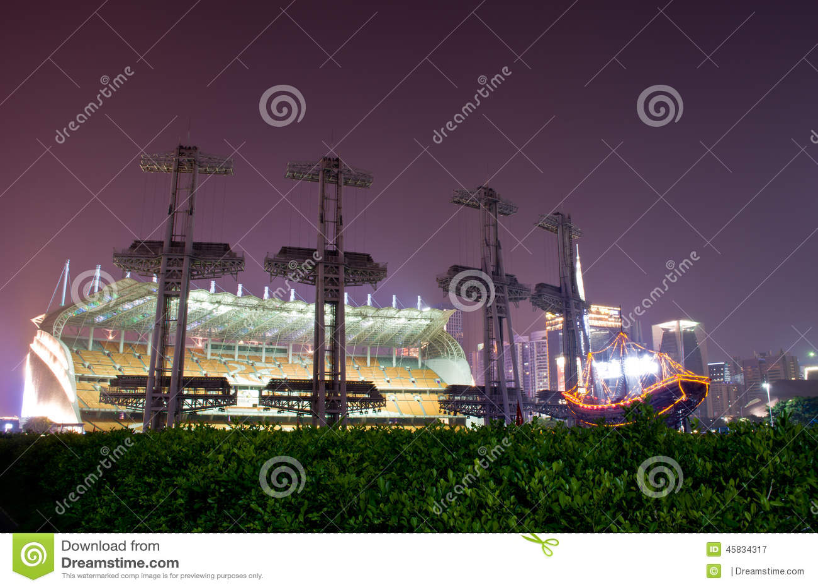 Haixinsha Spiele Park nachts
