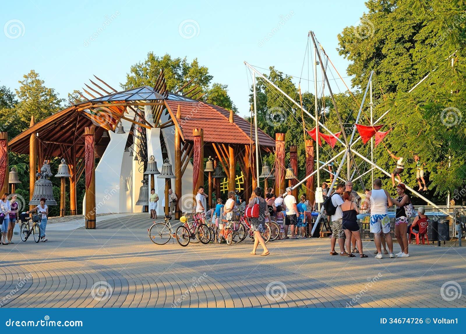 Hajduszoboszlo Hungary  city pictures gallery : the center of Hajduszoboszlo, Hungary on July 23, 2013. Hajduszoboszlo ...