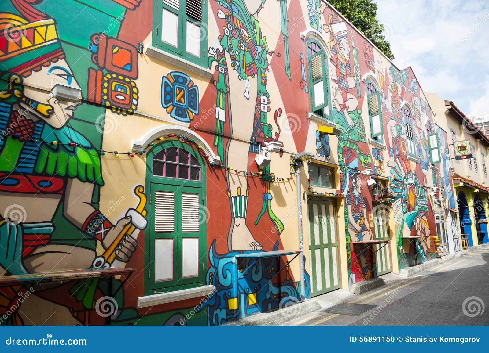 Haji Lane è il fascino del Kampong, Singapore
