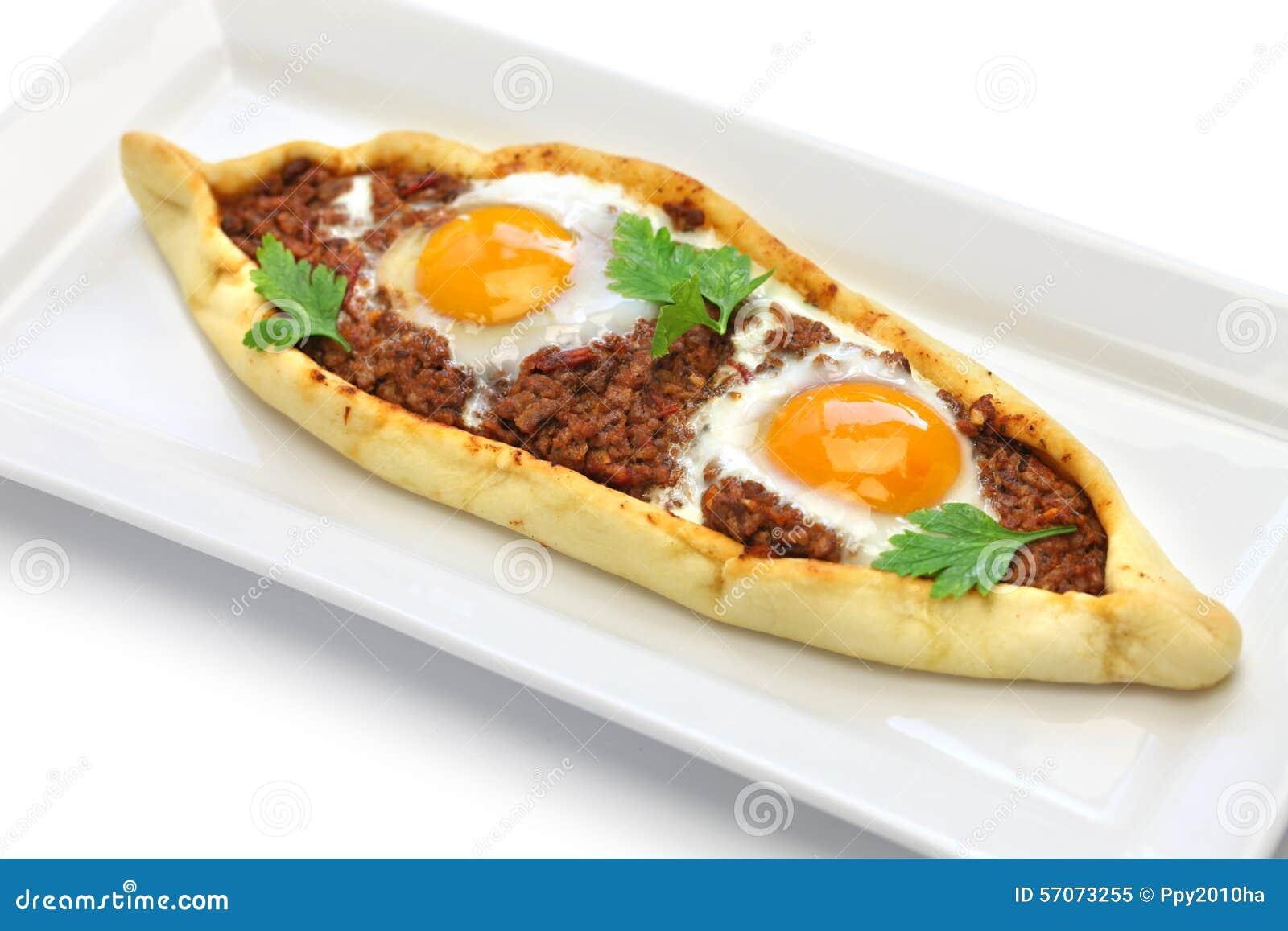 Hak vlees fijn pide, Turkse pizza
