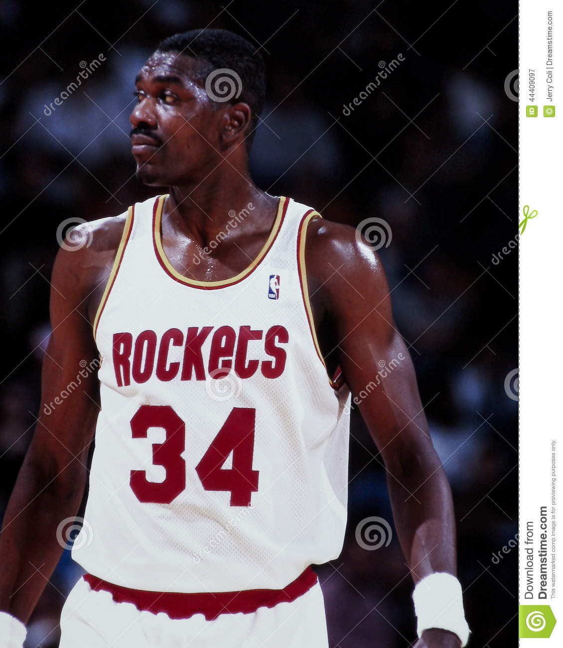 Hakeem Olajuwon Houston Rockets Editorial graphy Image
