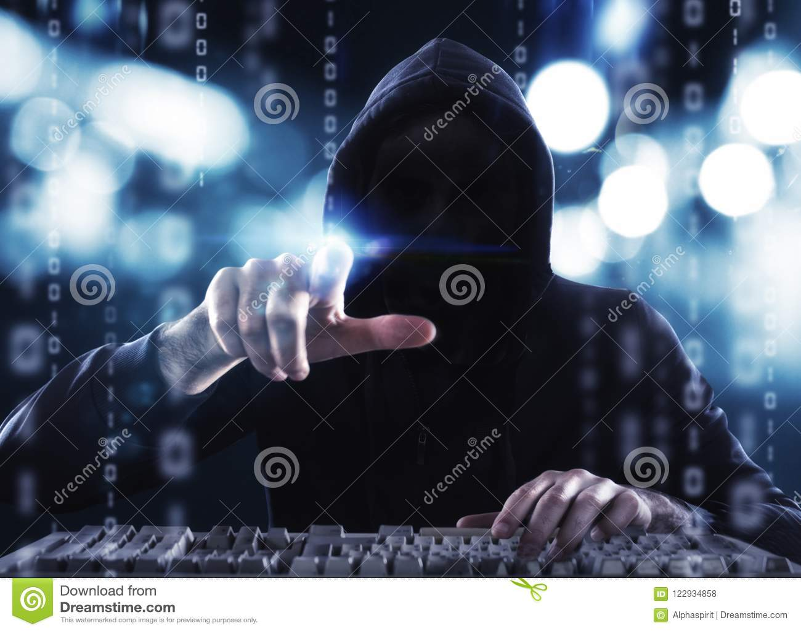 Hakker die persoonlijke informatie lezen Concept privacy en veiligheid