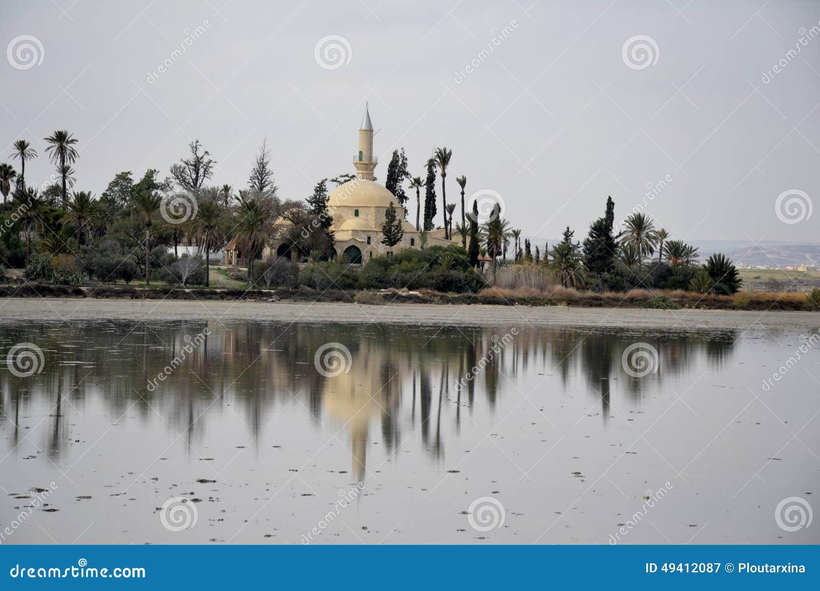 Download Hala Sultan Tekke In Zypern Stockbild - Bild von kirche, horizontal: 49412087