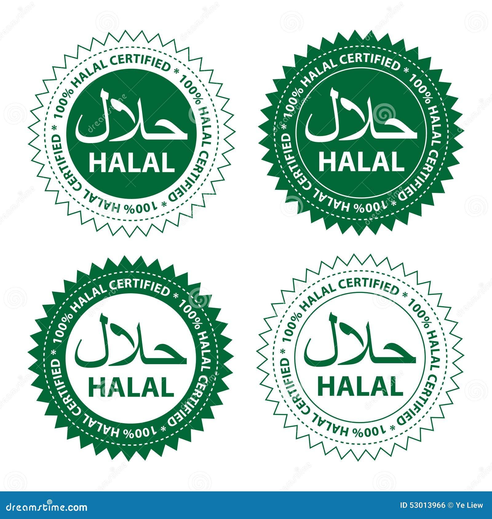 Halal food stock vector illustration of diet sticker 53013966 halal food buycottarizona