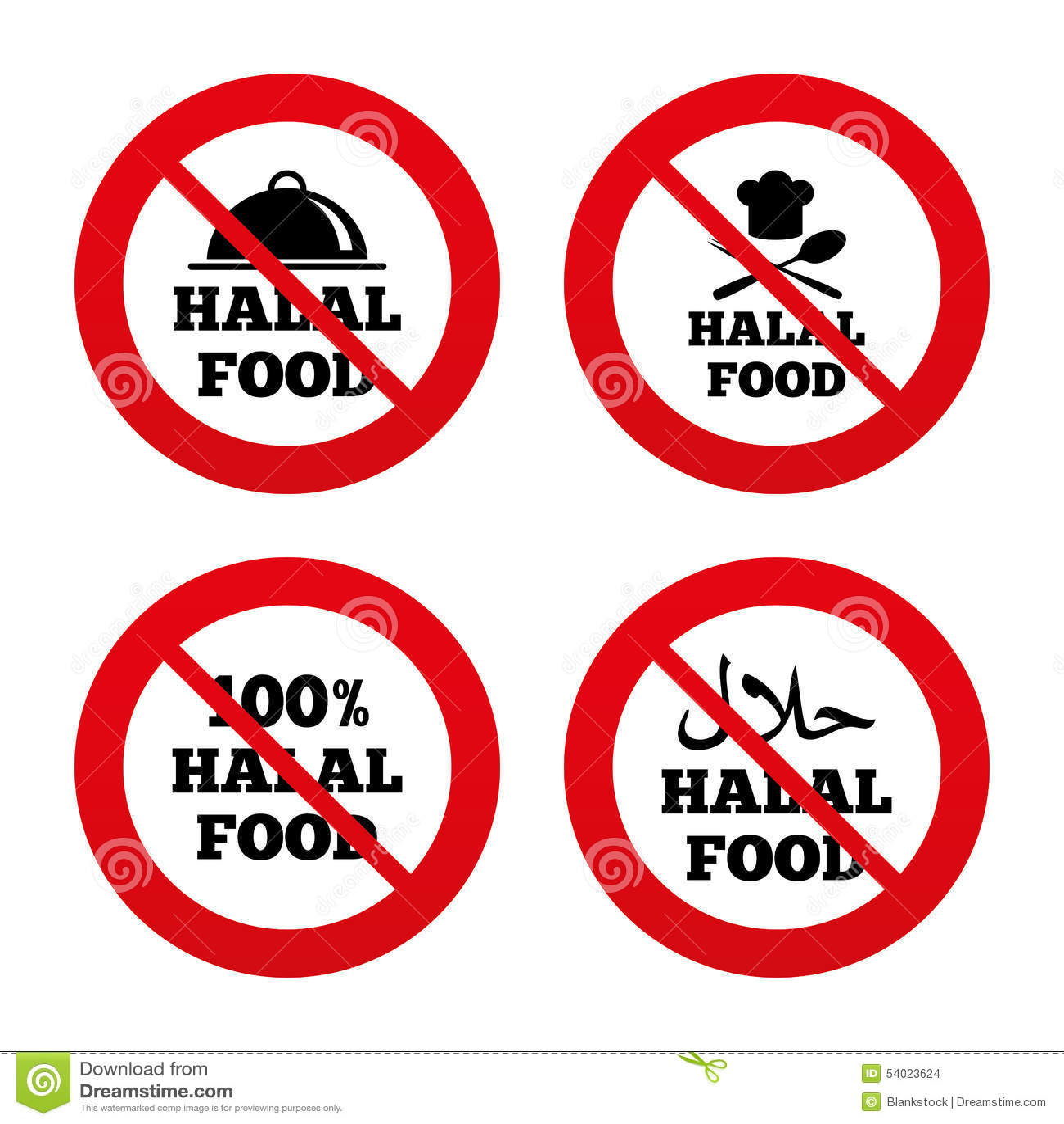 Halal food stock illustrations 358 halal food stock halal food icons natural meal symbol no ban or stop signs halal buycottarizona
