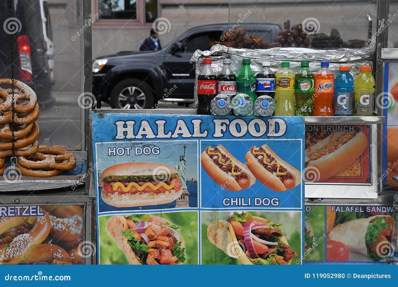 HALAL FOOD VANDORS editorial image  Image of travel - 119052980