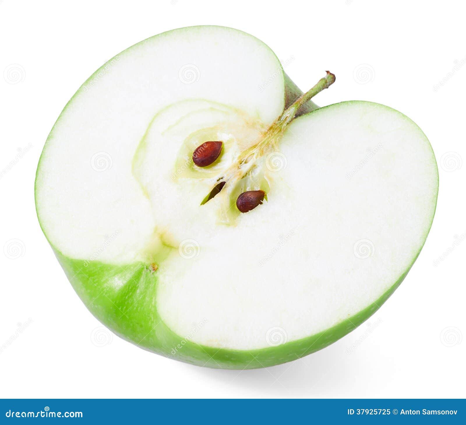 Halb grüner Apfel