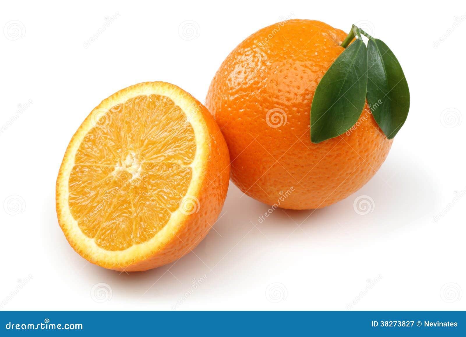 Halb orange und orange