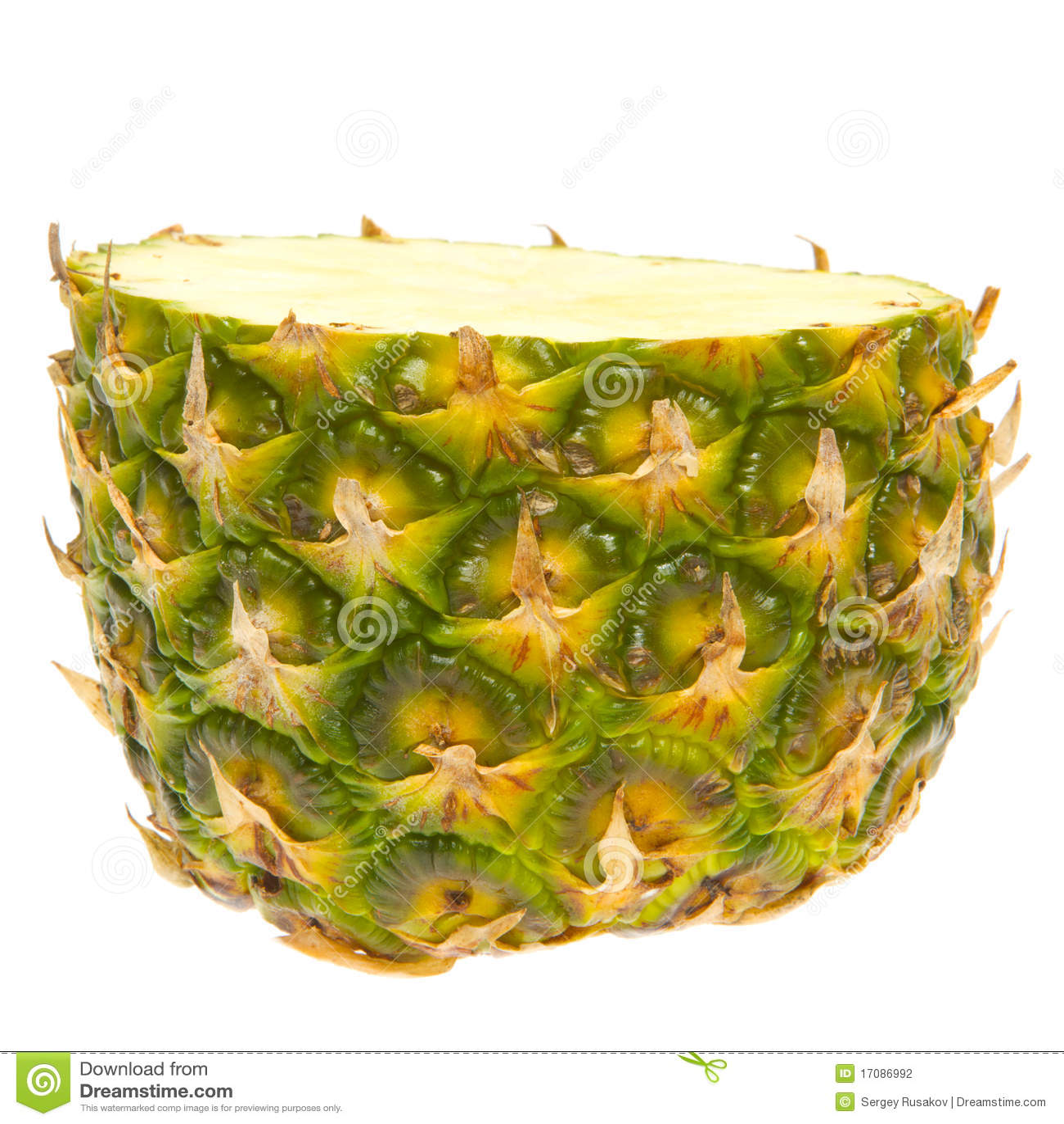 Halbe Ananas