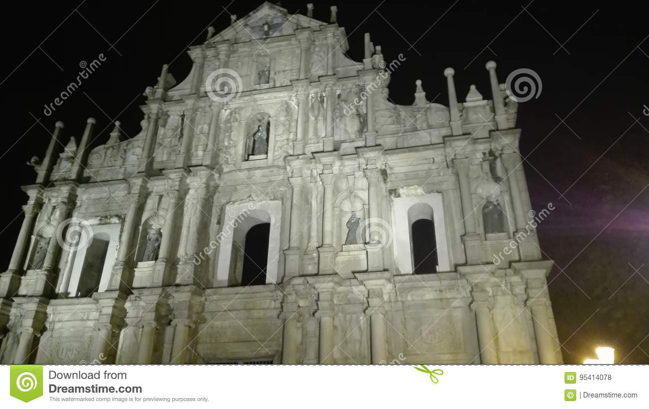 Halbes chruch in Macao