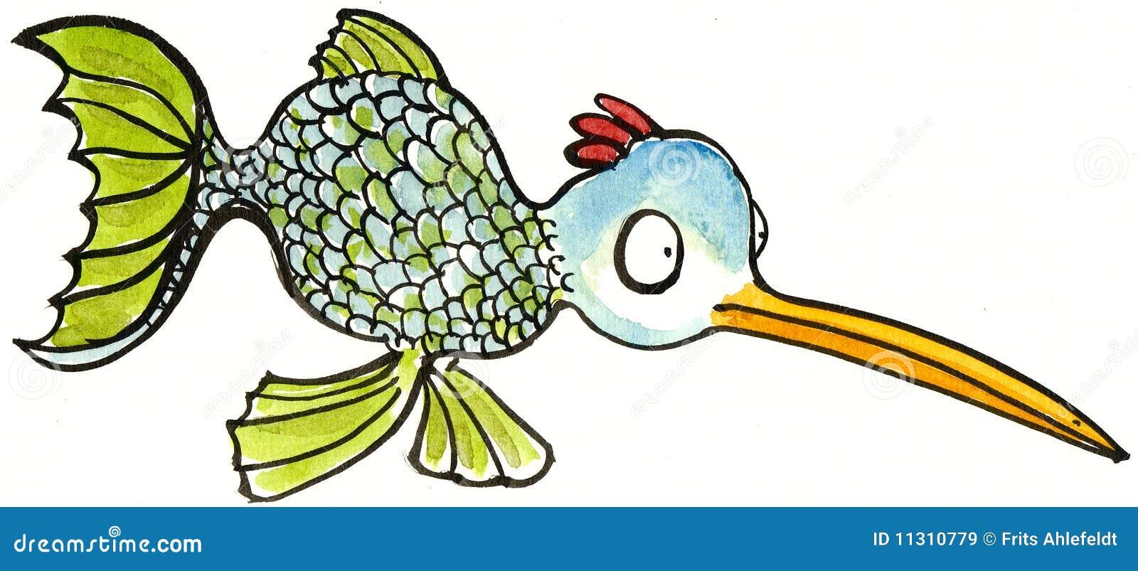 Halbes Geflügel der halben Fische