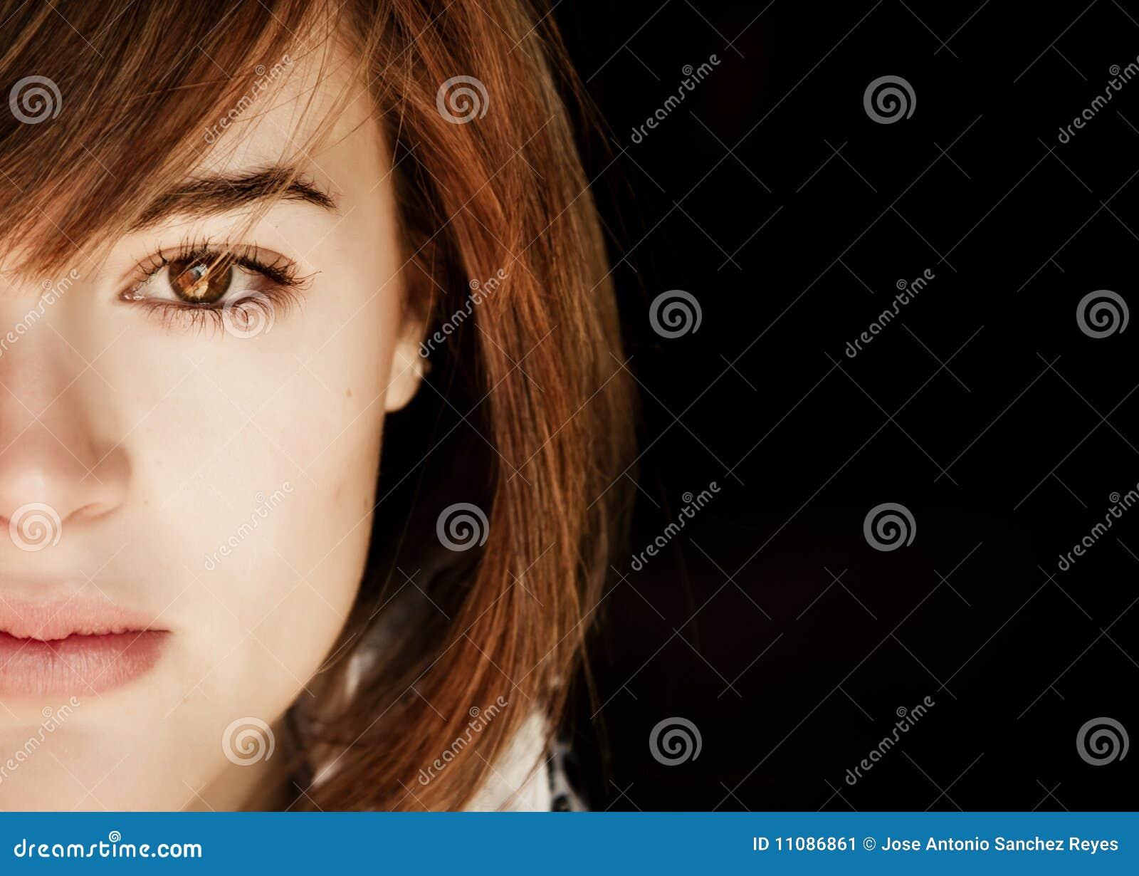 Halbes Gesichtsportrait