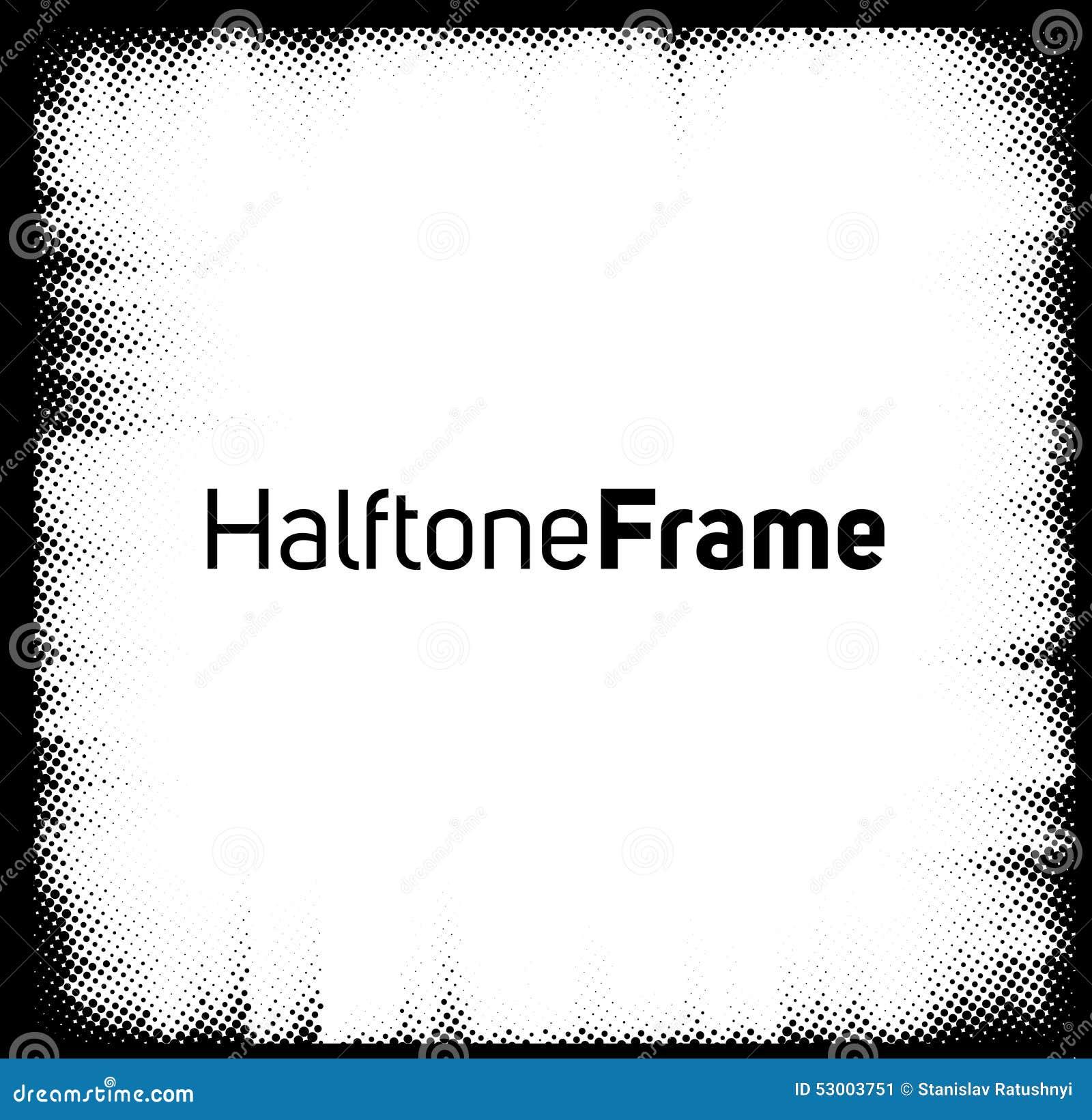 Halbton punktiert Rahmen
