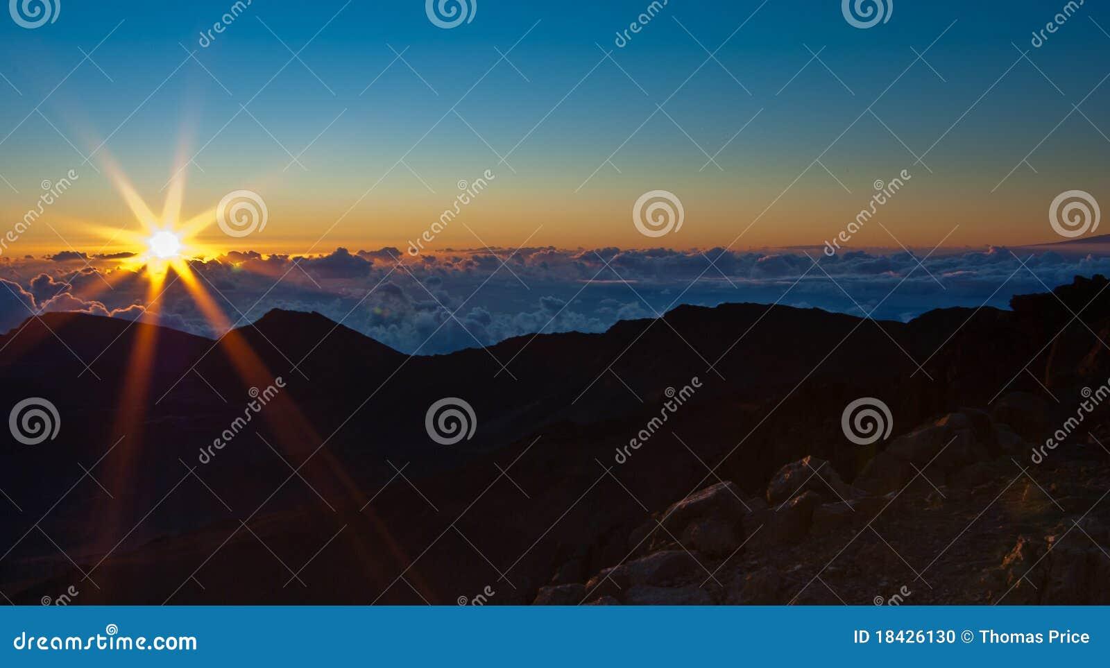 Haleakala över soluppgång