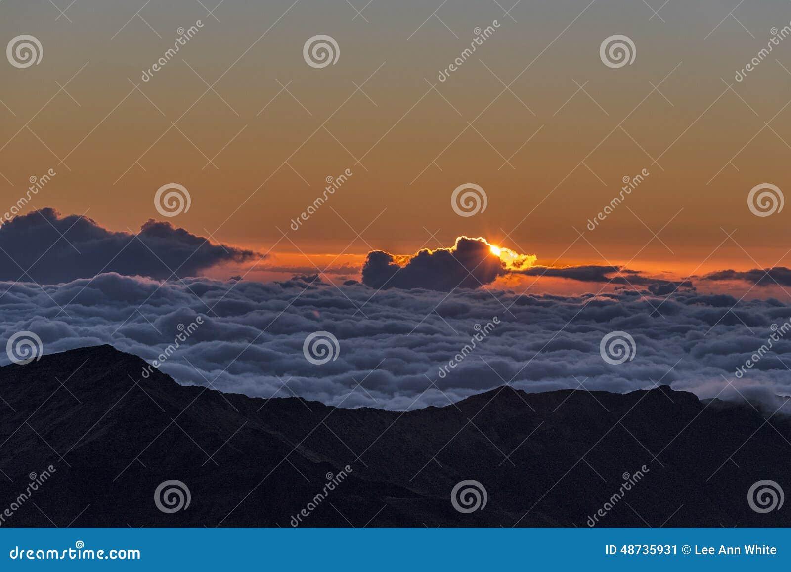 Haleakala krater på soluppgång
