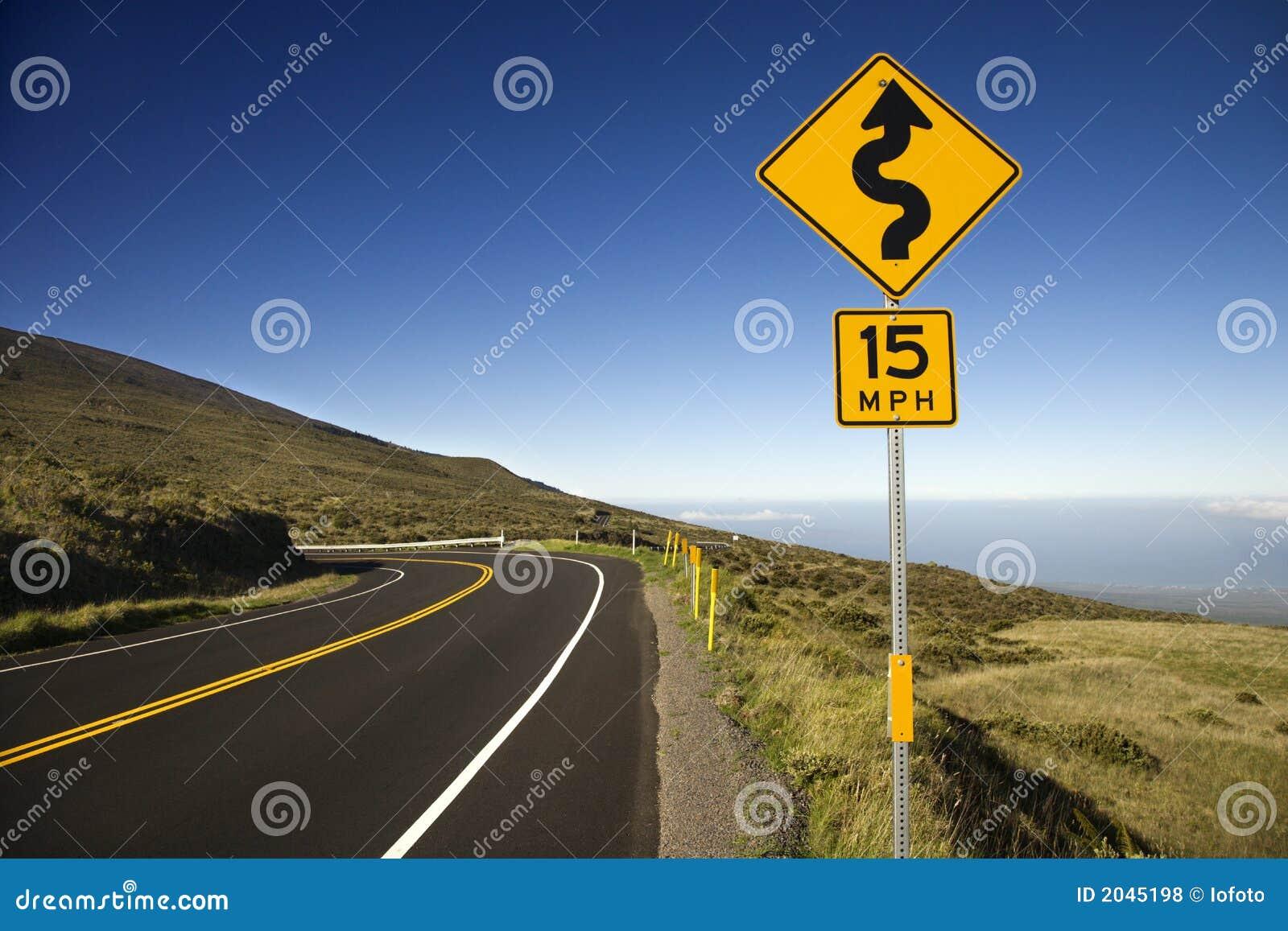 Haleakala znak drogowy