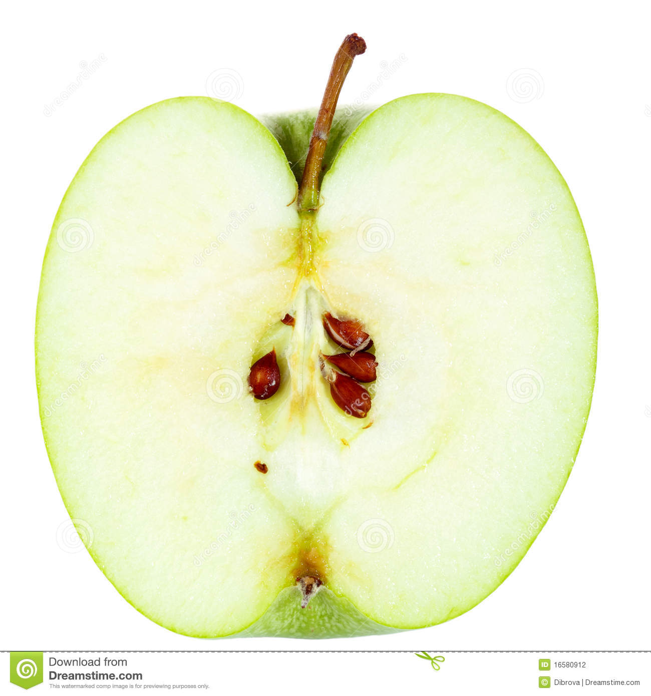 Half Of Apple Stock Photography - Image: 16580912