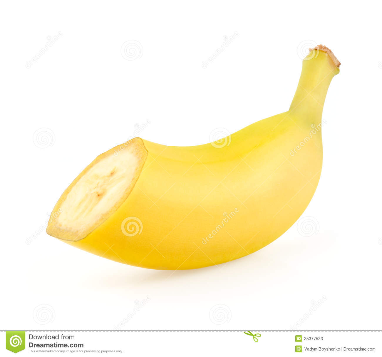 Half A Banana Stock Image Of Clipping Ripe Snack
