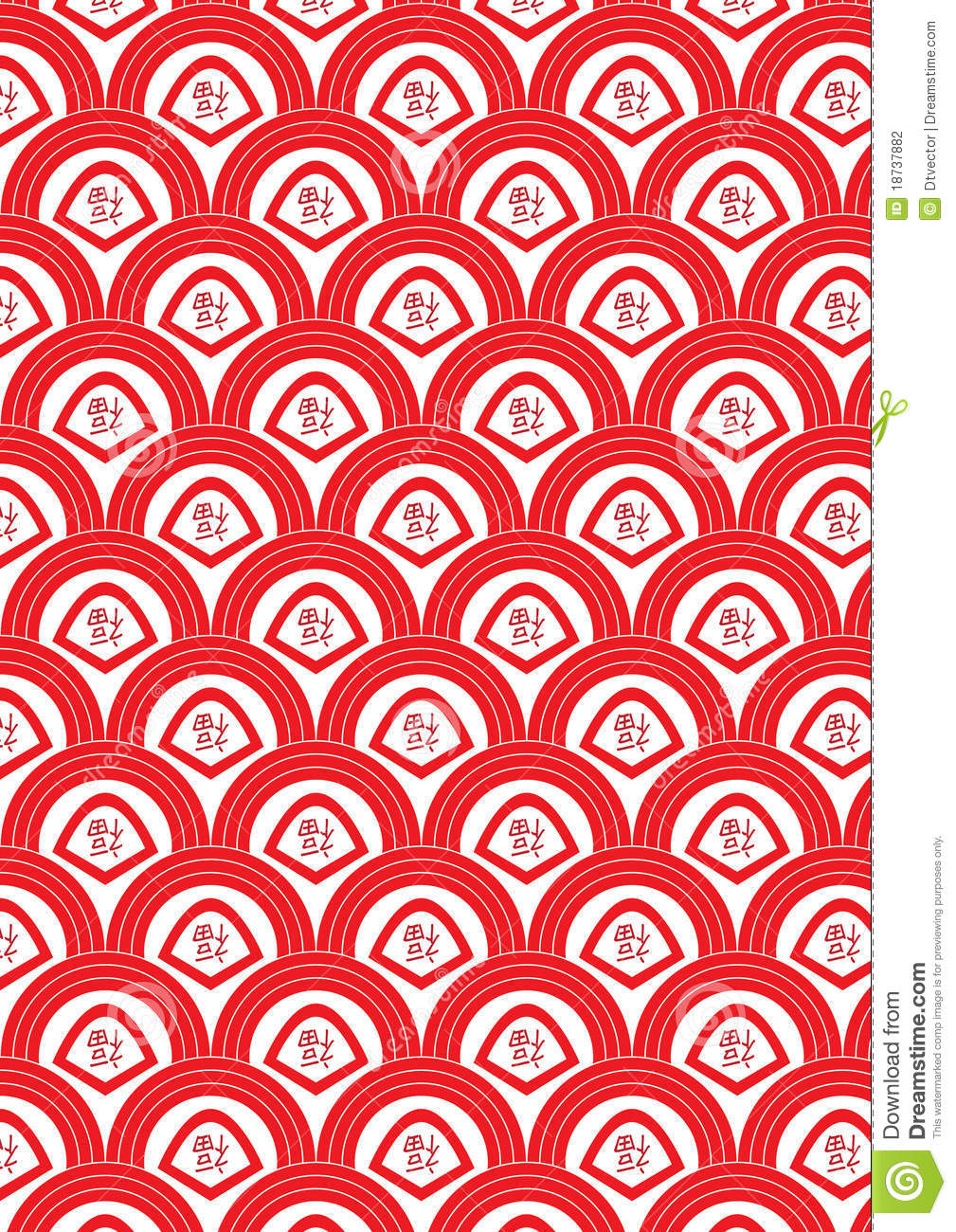 Stock Photography Half Circle Red Fortune Seamless Pattern Eps Image18737882 on file symbol thumbs up color